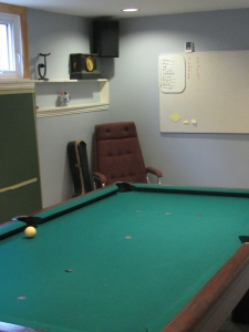 Billiards Room after organizing