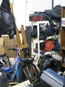 Storage Locker Before Organizing