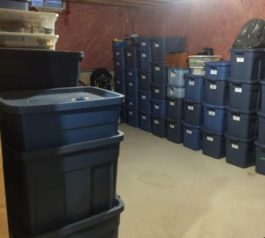 Basement Storage Before