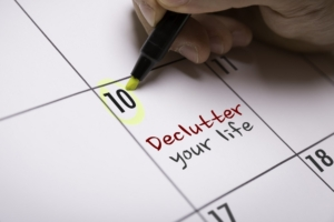 calendar: declutter your life today.