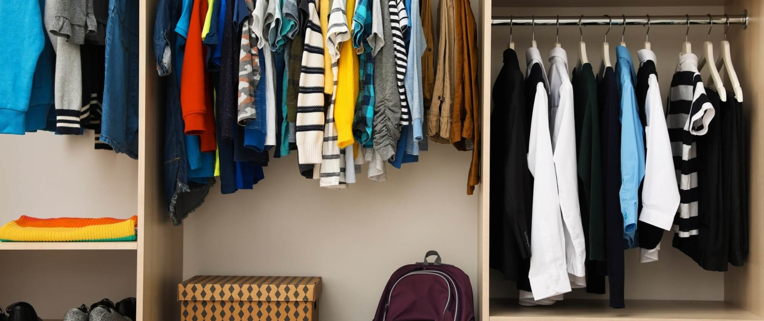 organize kids closets for back to school
