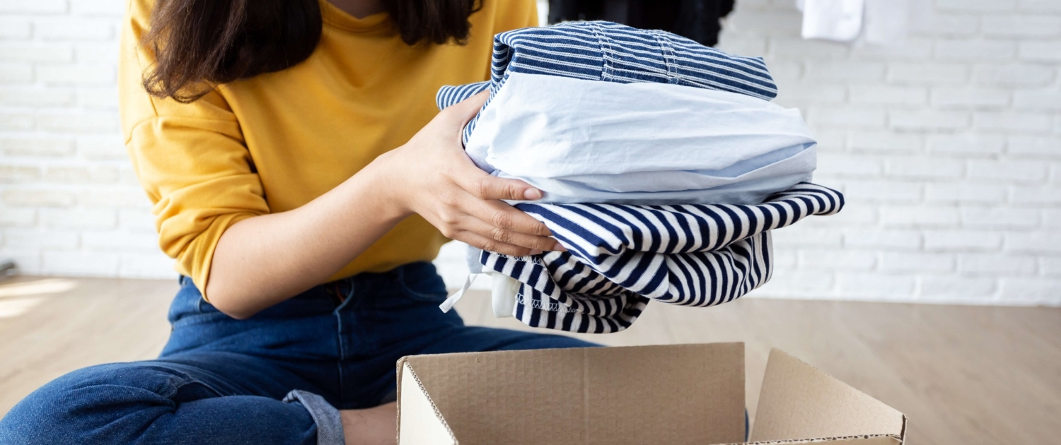 donate clothes to declutter