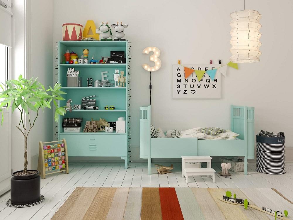 organized kids bedroom